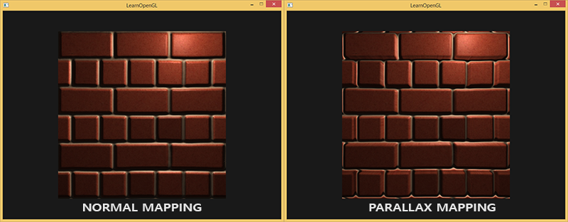 Image of parallax mapping in OpenGL